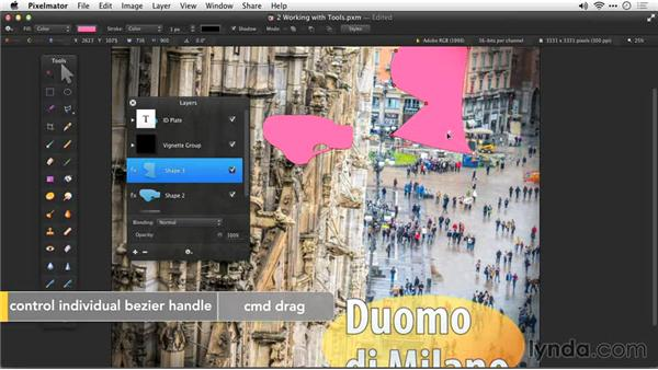 The shape tools: Up and Running with Pixelmator