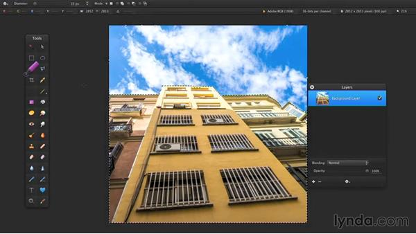 Refining a selection: Up and Running with Pixelmator