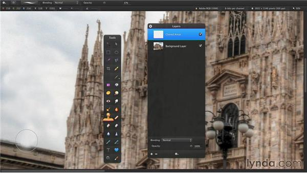Creating new and duplicate layers: Up and Running with Pixelmator
