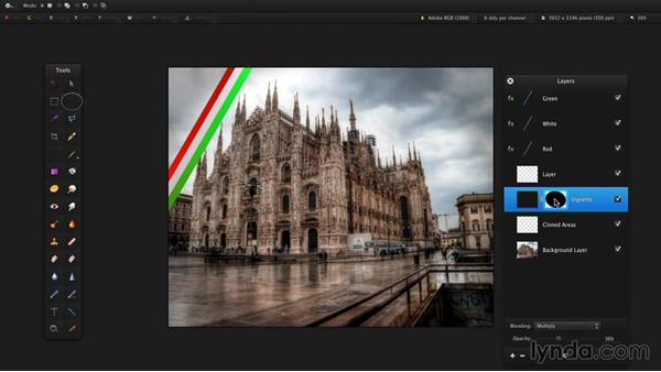 Adding layer and clipping masks: Up and Running with Pixelmator