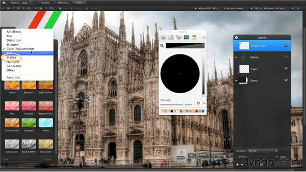 Arranging, grouping, and merging layers: Up and Running with Pixelmator