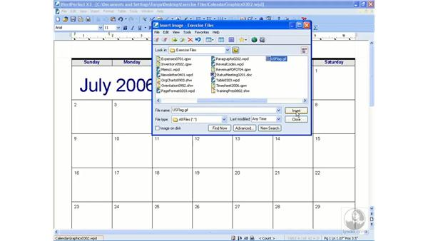 Inserting graphics: Getting Started With WordPerfect Office X3