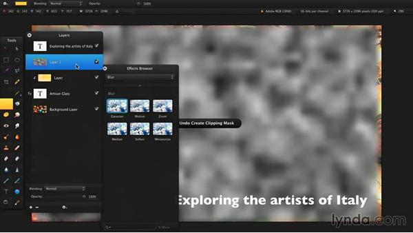 Formatting and stylizing text: Up and Running with Pixelmator