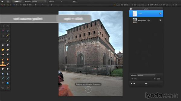 Cloning parts of photos: Up and Running with Pixelmator
