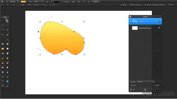 Drawing with shapes: Up and Running with Pixelmator