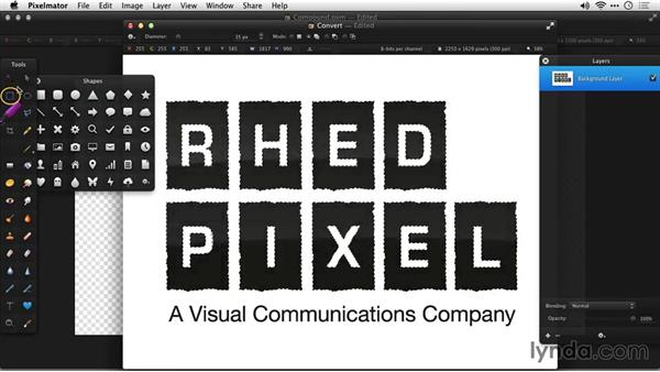 Creating custom shapes: Up and Running with Pixelmator