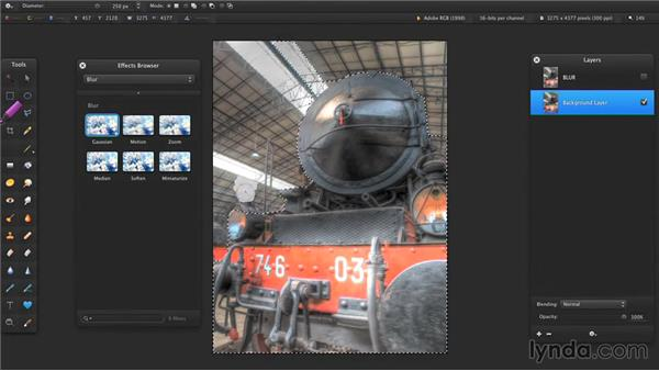 Blurring images: Up and Running with Pixelmator