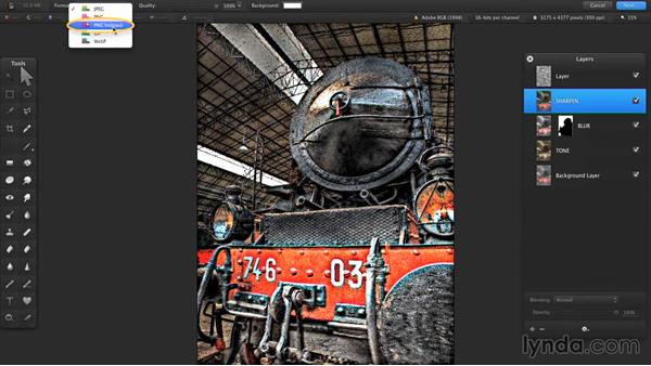Saving for the web: Up and Running with Pixelmator