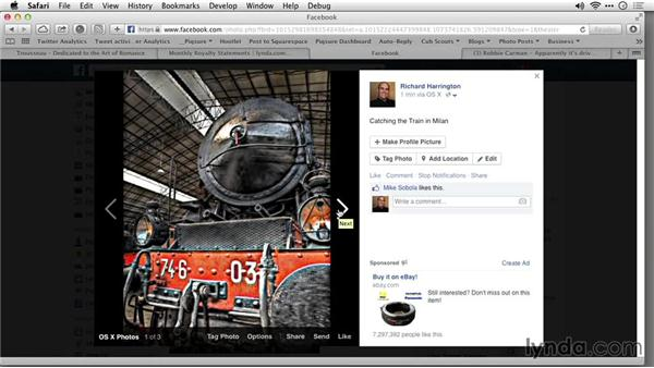 Sharing to social media sites: Up and Running with Pixelmator