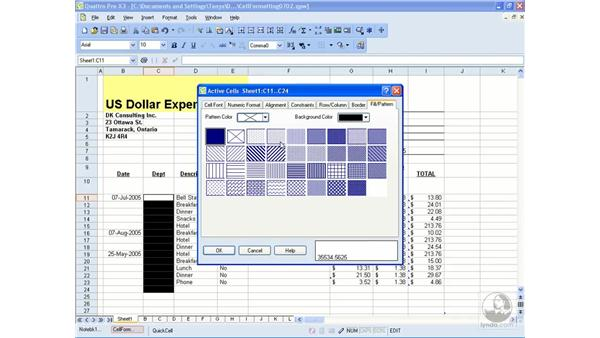 Fills, patterns and borders: Getting Started With WordPerfect Office X3