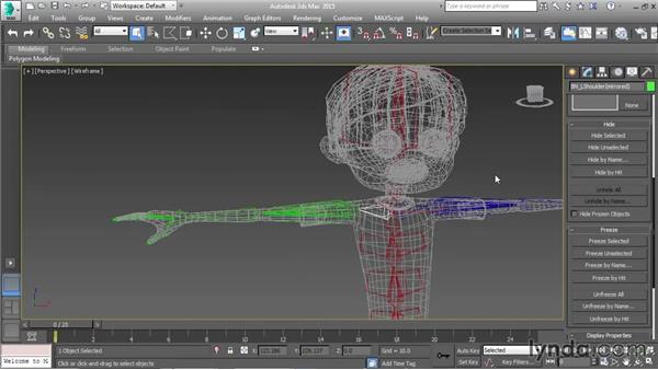 Mirroring arm skeletons: Character Rigging in 3ds Max