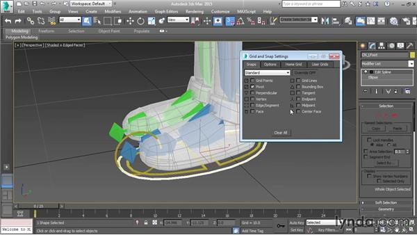 Positioning the foot control splines: Character Rigging in 3ds Max