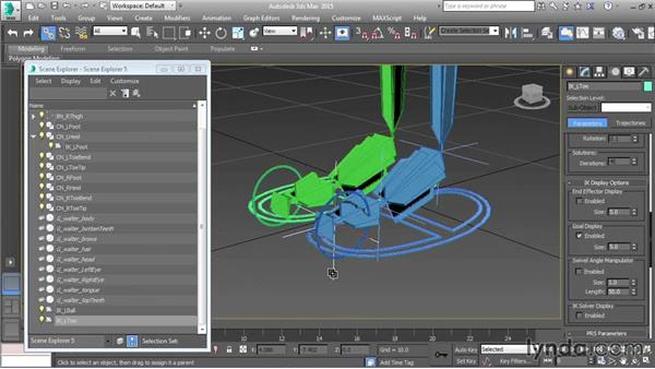 Rigging the heel and toe controls: Character Rigging in 3ds Max