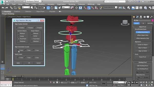 Configuring the main control: Character Rigging in 3ds Max