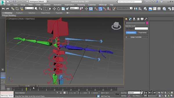 Constraining the control skeletons: Character Rigging in 3ds Max