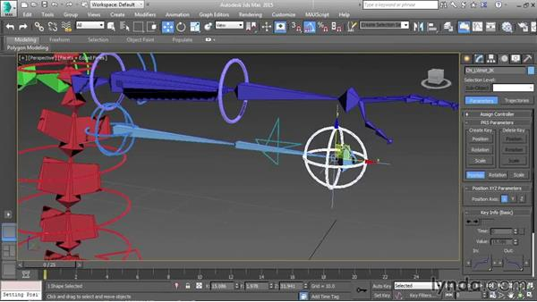 Setting up the IK skeleton controls: Character Rigging in 3ds Max