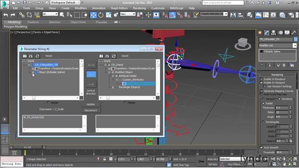 Making controls appear and disappear: Character Rigging in 3ds Max