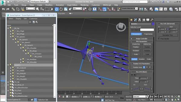 Setting up the wrist control: Character Rigging in 3ds Max