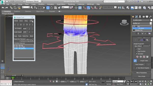 Advanced weighting tools: Character Rigging in 3ds Max