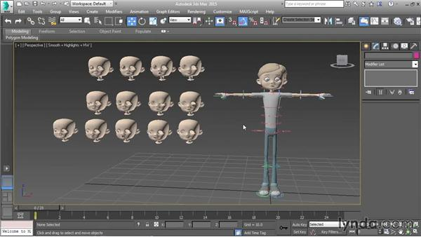 Understanding morph targets: Character Rigging in 3ds Max
