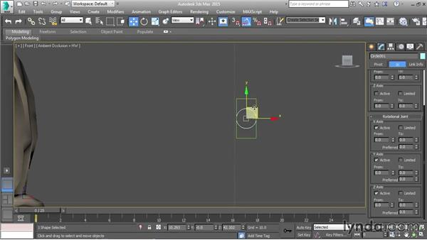 Setting up a single-axis slider: Character Rigging in 3ds Max