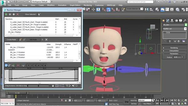 Controlling the jawbone: Character Rigging in 3ds Max