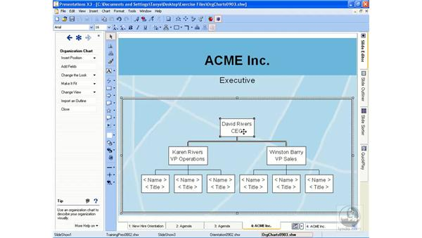 Adding org charts: Getting Started With WordPerfect Office X3