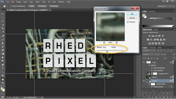 When to defocus: Motion Graphics for Video Editors: Creating Backgrounds