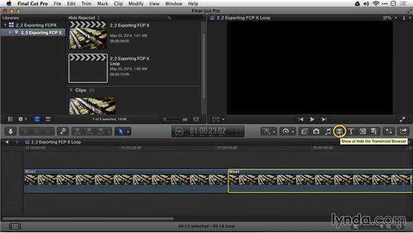 Exporting sources from Final Cut Pro X: Motion Graphics for Video Editors: Creating Backgrounds