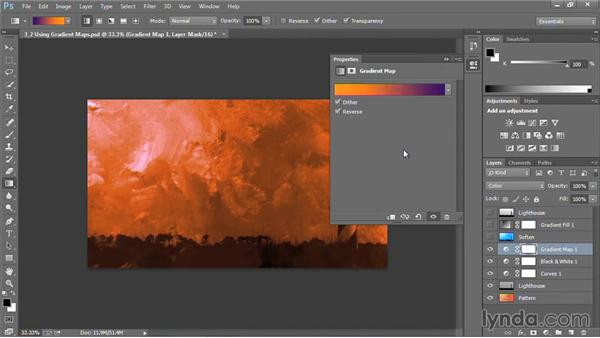 Using Gradient Maps in Photoshop: Motion Graphics for Video Editors: Creating Backgrounds