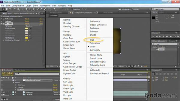 Using the Tritone effect in After Effects: Motion Graphics for Video Editors: Creating Backgrounds