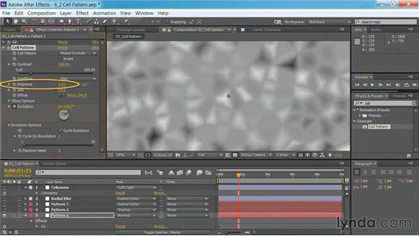 Using the Cell Pattern effect: Motion Graphics for Video Editors: Creating Backgrounds