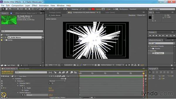 Using the Radio Waves effect: Motion Graphics for Video Editors: Creating Backgrounds