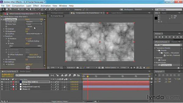 Using the Fractal Noise effect: Motion Graphics for Video Editors: Creating Backgrounds