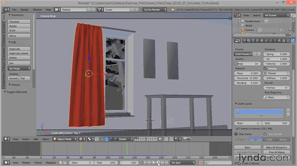 How to simulate cloth: Cloth Simulation in Blender