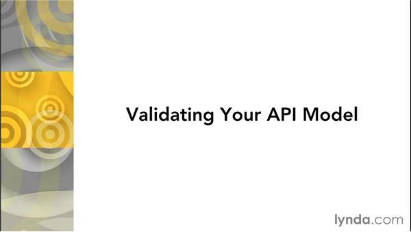 Challenge: Validating your API model: Effective Design of RESTful APIs