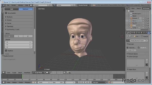 Sculpt mode: Blender Essential Training