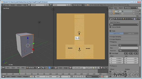 Mapping textures in the UV Editor: Blender Essential Training