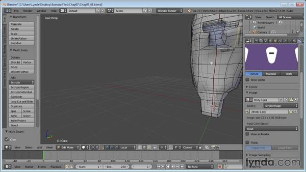 UV mapping a character: Blender Essential Training