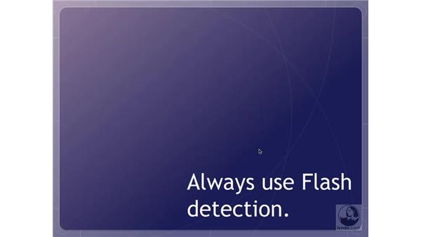 When to instruct users to update their Flash Players: Flash User Experience Best Practices
