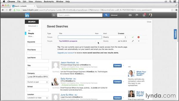 Saved searches: LinkedIn for Business