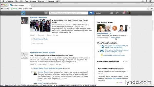 Using the You Recently Visited tool: LinkedIn for Business