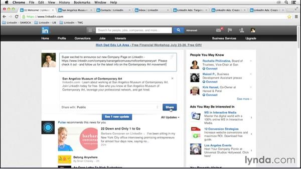 Marketing your page on LinkedIn: LinkedIn for Business