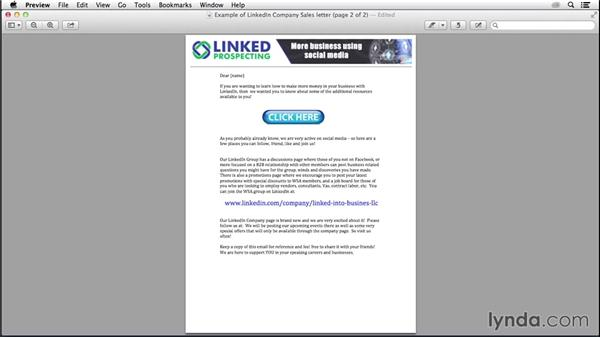 Marketing your page outside of LinkedIn: LinkedIn for Business