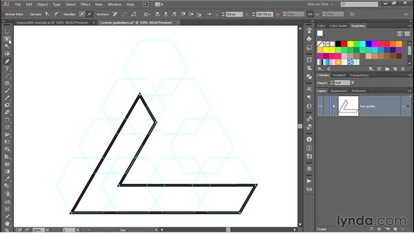 Drawing the first edge of the triangle: Designing and Animating a Mind-Bending Illusion