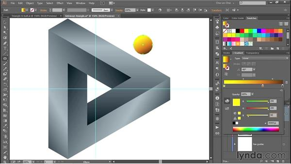 Drawing and filling the golden ball: Designing and Animating a Mind-Bending Illusion