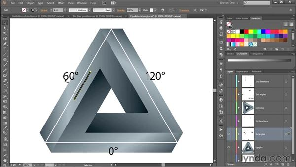 The angles of an equilateral triangle: Designing and Animating a Mind-Bending Illusion
