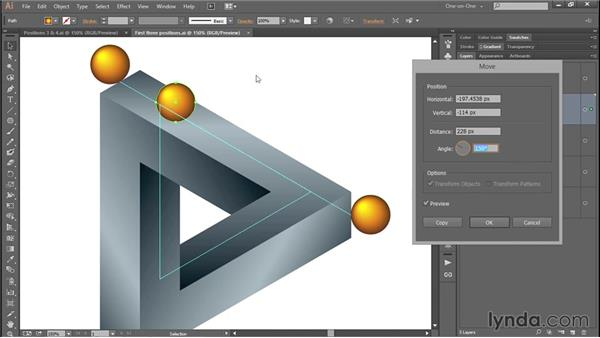 Arranging shapes in a perfect triangle: Designing and Animating a Mind-Bending Illusion