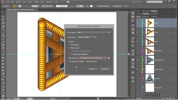 Exporting your frames as Photoshop layers: Designing and Animating a Mind-Bending Illusion