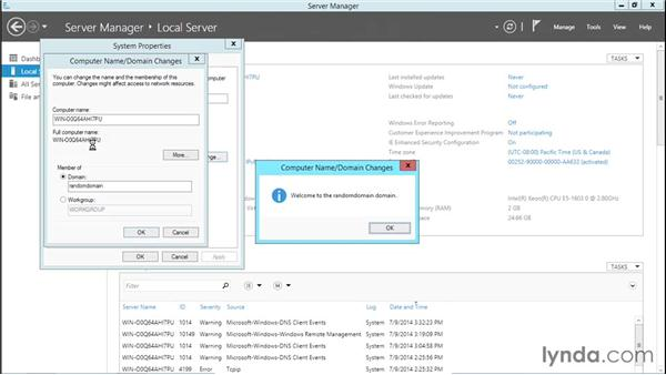 Connecting to a domain controller: Basic Installation and Configuration of Windows Server 2012
